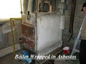 Boiler Wrapped In Asbestos